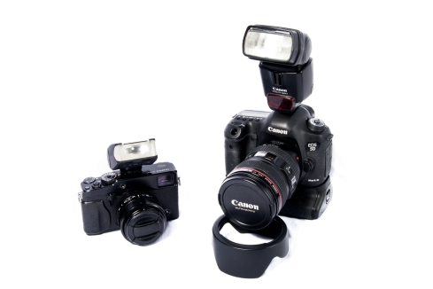 5DMkIII w/24-105mm VS X-Pro1